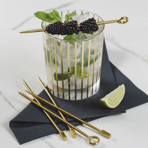 Gold Drinks Stirrers - cocktail club