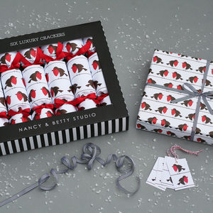 Luxury Robins Pack - cards & wrap