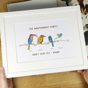 Personalised Little Bird Family Print
