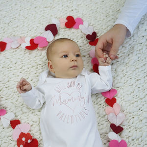 Will You Be Valentine Baby Sleepsuit - clothing