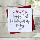 Happy First Birthday As My Daddy Card