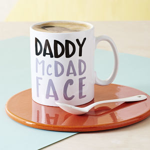 Daddy Mc Dad Face Mug - gifts from younger children
