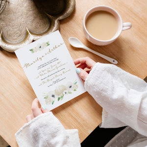 Ivory Garden Save The Dates And Invitations - save the date cards