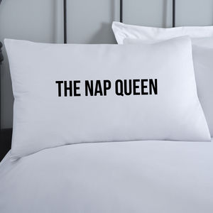 Nap Queen Personalised Pillowcase - bed, bath & table linen