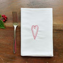 Embroidered Scandi Heart Cotton Napkins