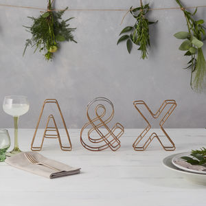 Wire Alphabet Letter - decorative letters