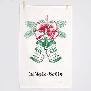 Christmas Gin Tea Towel - christmas home accessories