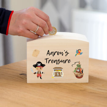 Personalised Pirates Treasure Money Box