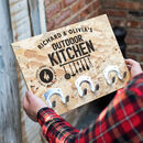 Personalised Outdoor Kitchen Sign With Hooks