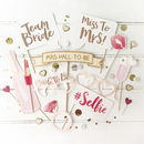 Hen Party Rose Gold Photo Booth Props