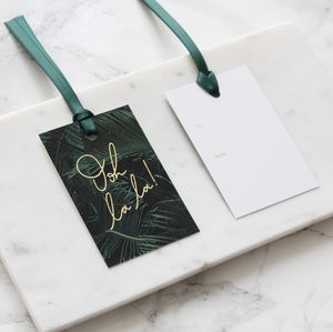 Pack Of Six 'Ooh La La!' Gold Foil Gift Tags