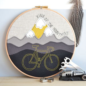 Mountain Or Road Bike Personalised Hoop Picture - new in prints & art