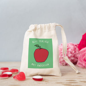 Personalised Apple Bag With Sweets