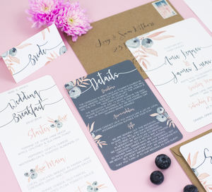 Berry Blush Wedding Collection - save the date cards