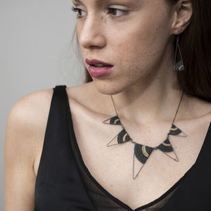 Geometric Triangle Statement Necklace