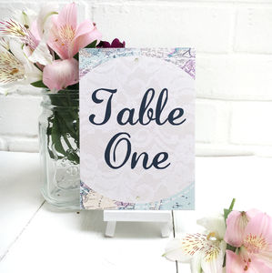 Travel Inspired Table Number Or Name Cards - table numbers