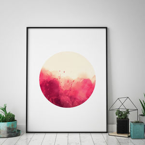 Minimalist Fire Art Print - modern & abstract