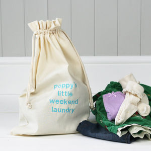 Personalised 'Little Weekend' Laundry Sack