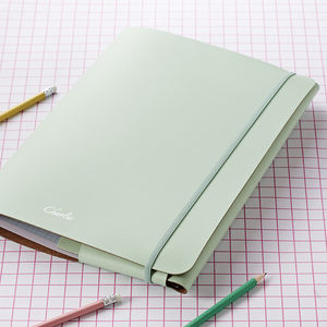 Undercover A4 Recycled Leather Portfolio - stationery-lover