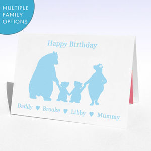 Personalised Birthday Bears Birthday Card - birthday cards