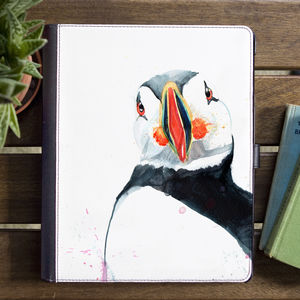 Inky Puffin Tablet Case With Stand