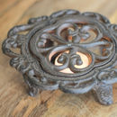 Antique Style Cast Iron Plate Warmer