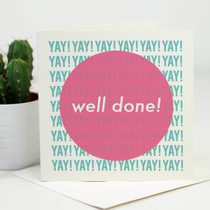 Modern Well Done Congratulations Card