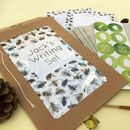 Personalised Bees Illustrated Writing Set