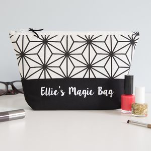Personalised Monochrome Make Up Bag - beauty & pampering