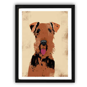 Airedale Terrier Dog Art Print