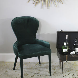 Emerald Green Velvet Cocktail Chair