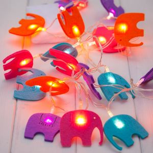 Child's Elephant Fairy Lights - lighting