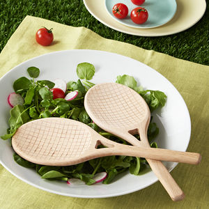 Tennis Racket Salad Servers - kitchen accessories