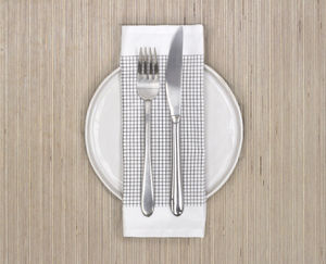Monochrome Grid Design Napkin Or Placemat - table decorations