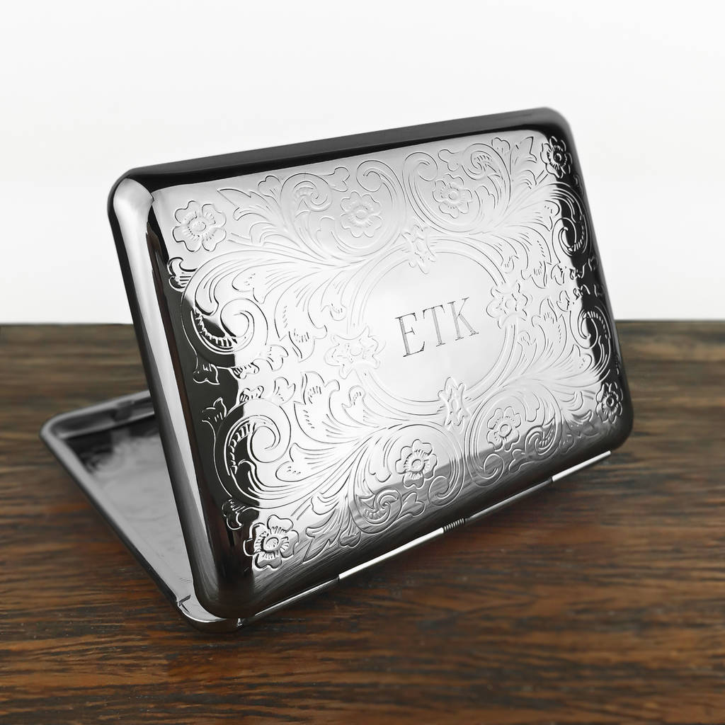 Personalised Cigarette Case With Engraved Initials By Wild
