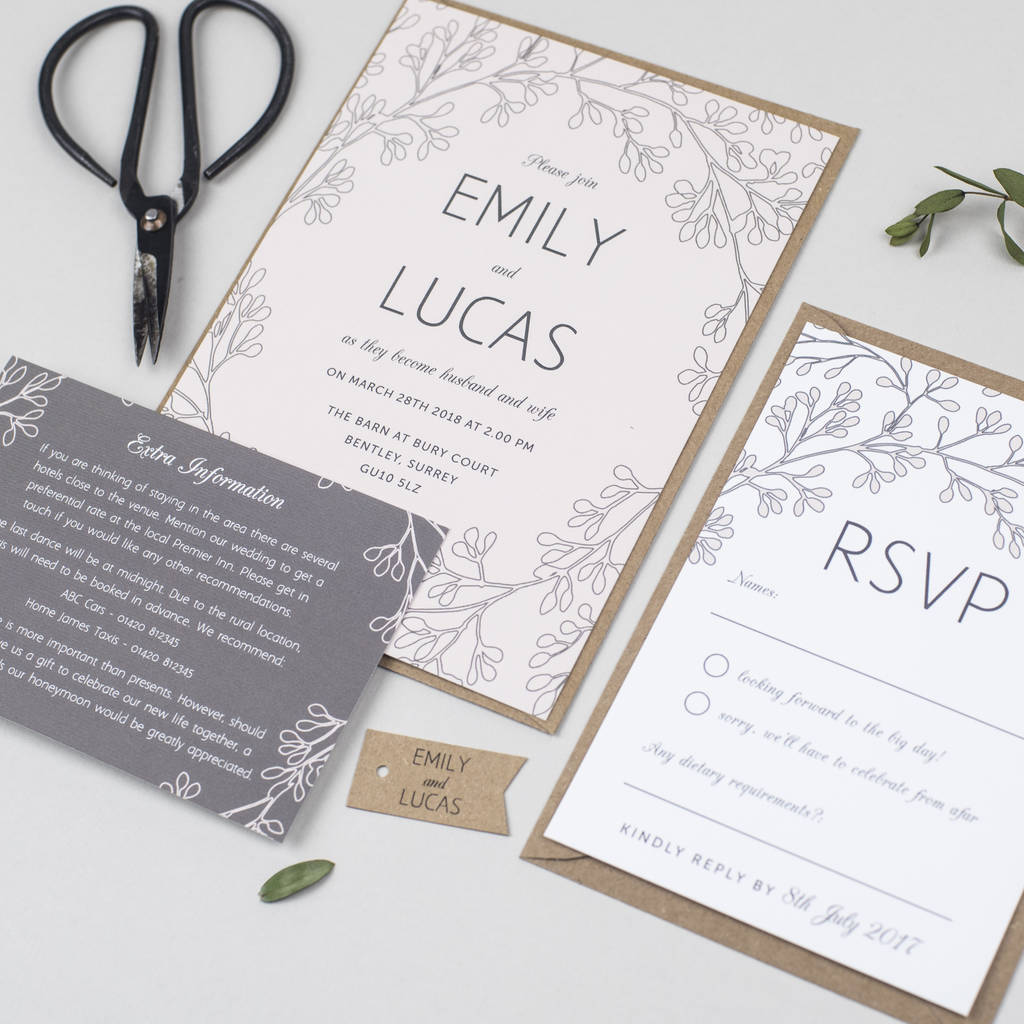 secret garden wedding invitation by pear paper co ...