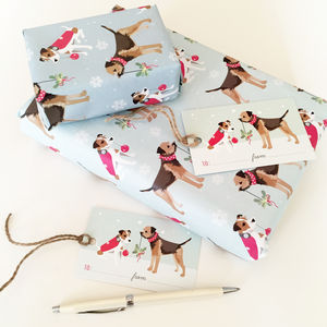 Border Terrier And Jack Russell Wrapping Paper Pack