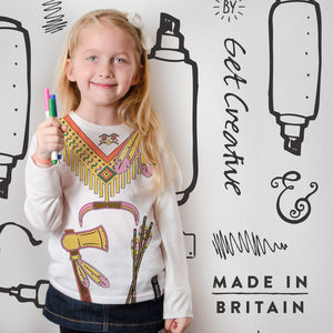 Indian Colour In Top With Fabric Pens - gifts: under £25