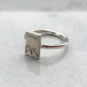 Little Silver Bunny Rabbit Ring - rings