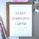 Awesome Auntie | Personalised Birthday Card