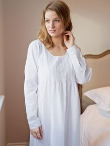 Lizzie Longsleeve Cotton Nightdress - lingerie & nightwear