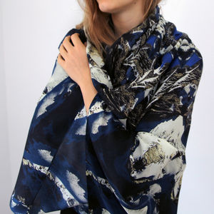 Sajama Volcano Silk Scarf - mother's day gifts