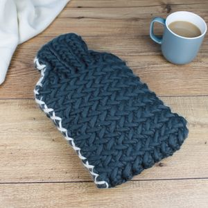 Luxury Herringbone Chunky Hot Water Bottle