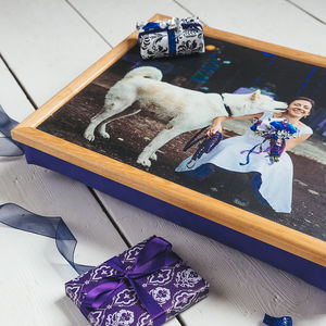 Personalised Bean Bag Cushioned Lap Tray - trays