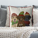 Winter Labradors, Christmas Cushion