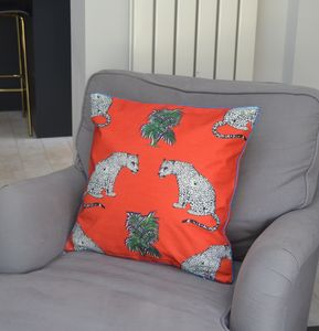'Sitting Leopards' Cushion