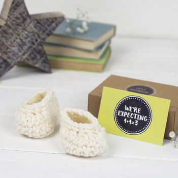 New Pregnancy Announcement Merino Baby Booties