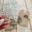 Chrysanthemum Flower Clear Stamp Set