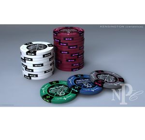 Kensington Premium Ceramic 100 Poker Chip Set - save the date cards