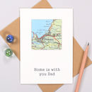 Personalised Fathers Day Square Map Location Card